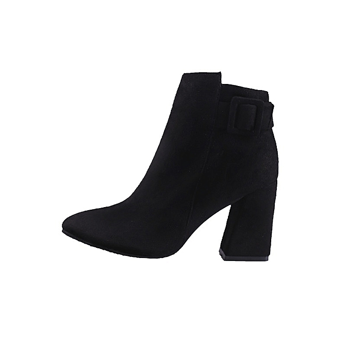 Autre Stylish Autumn and Winter High Heel and Sharp Head Head Sharp Ankle Boots à prix pas cher  | Jumia Maroc 7eea85