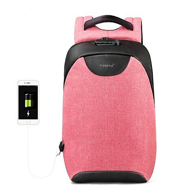 OEM Hot sale Hommes 15 15.6 inch Anti theft Laptop sac à doss Multifunction imperméable USB sac à dos For Man rose à prix pas cher