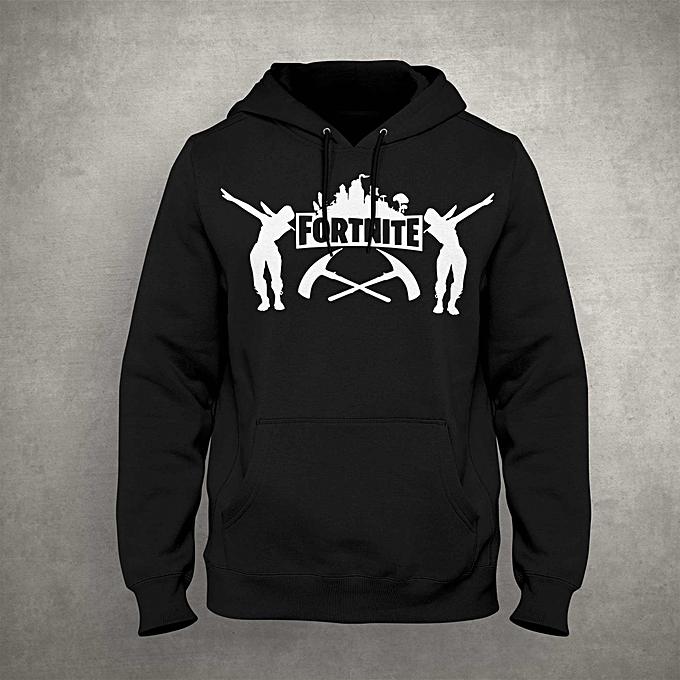 cf66b98f1e9e Capuchon Hoodie Fortnite grapic Sweat-shirt à Capuche Homme Manches Longues  Hiver noir