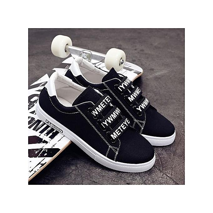 Generic nouveau hommes respirant Décontracté chaussures hommes student chaussures Korean version of the wild hommes chaussures tide-noir à prix pas cher