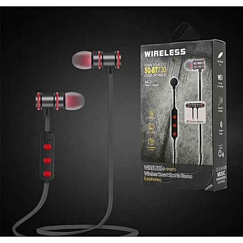 Écouteurs pour le SPORT Casque d écoute Bluetooth sans fil avec microphone  en noir écouteur 5366f0a88122