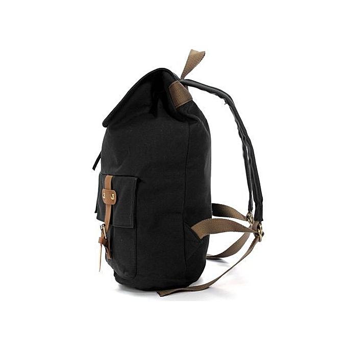 Generic Vintage Wohommes School sac Booksac toile sac à dos sac à dos voyage Shoulder sac Satchel noir à prix pas cher