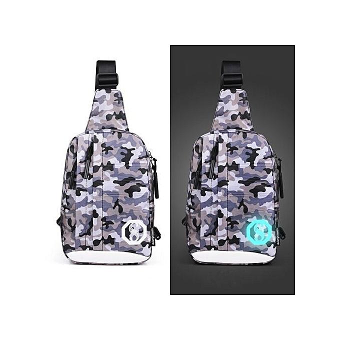 Duoya Fashion Oxford Noctilucent Shoulder Bags Chest Crossbody Bag L-MultiCouleur à prix pas cher