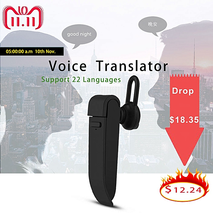 Other voice translator 22 Languages instant  earphone traductor simultaneo Intelligent russia english translator New WOEDA à prix pas cher