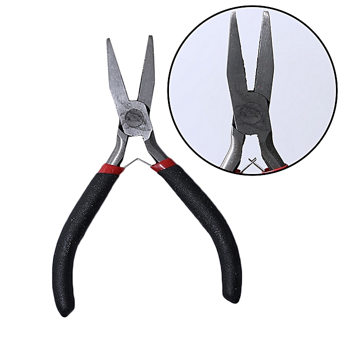 Other 1Pcs Mini noir Long Pliers DIY Jewelry Beading Pliers Round Nose Making Beading Wire Cutter Bent Nose Pliers Hand Tool(Flat Nose Pliers) à prix pas cher