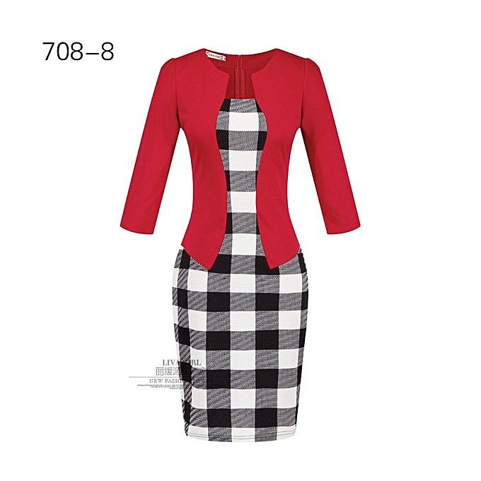 OEM New style Wohommes professional bag hip pencil fashion comfortable dress-8 à prix pas cher