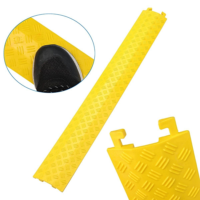 UNIVERSAL Rubber Heavy Duty Safety Cable Cover Guards Prougeector Floor Ramp 3 Channel P M à prix pas cher