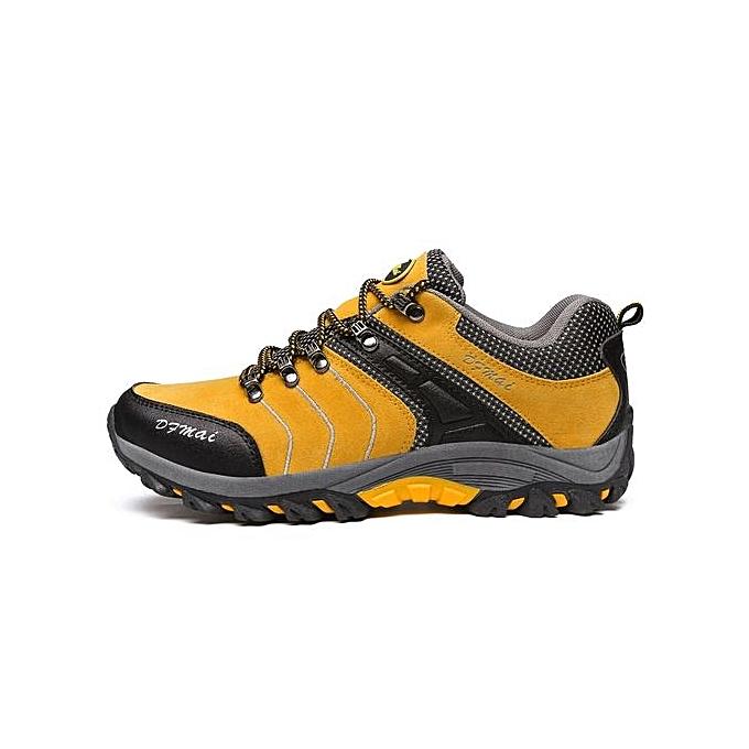 Fashion  's 's  Hiking Shoes Winter Anti-skidding Trekking Shoes  rs Comfortable Travelling Shoes-Jaune  à prix pas cher  | Jumia Maroc cb0ae4