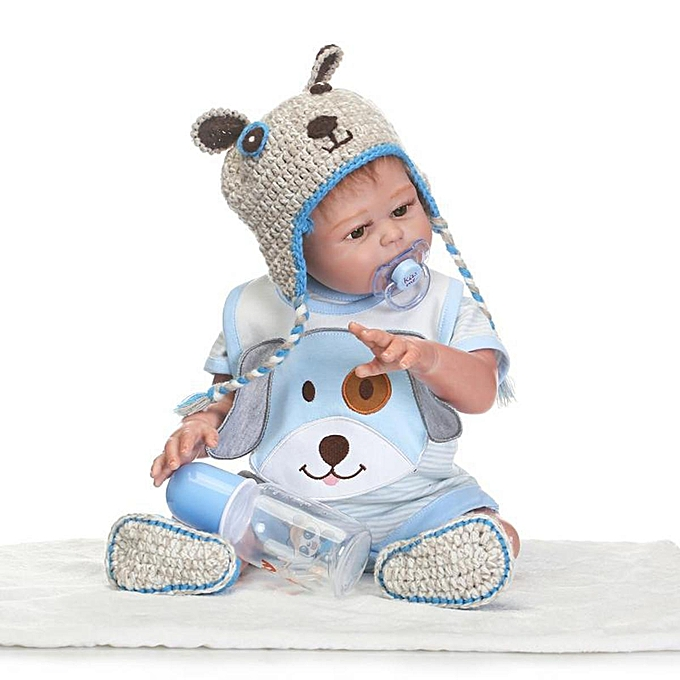 OEM Full Body Silicone Reborn   Doll Handmade Lifelike nouveauborn Xmas Gift C3O5N à prix pas cher