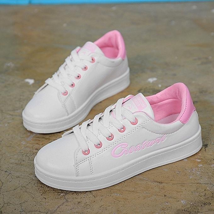 Autre Stylish Korean Leisure Letters Lacing White Shoes à prix prix à pas cher  | Jumia Maroc c4cef8