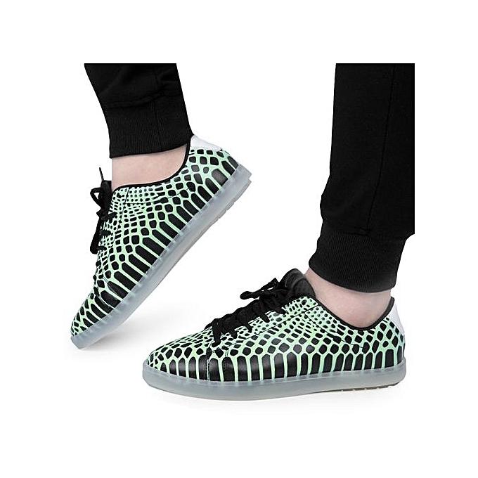 Fashion Casual Male Fluorescence Snake Snake Fluorescence Texture Flat Shoes à prix pas cher  | Jumia Maroc 1c3cde