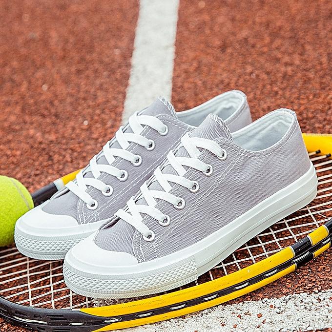 OEM Classic couple canvas chaussures Korean fashion sports chaussures trend low to help students chaussures-gris à prix pas cher