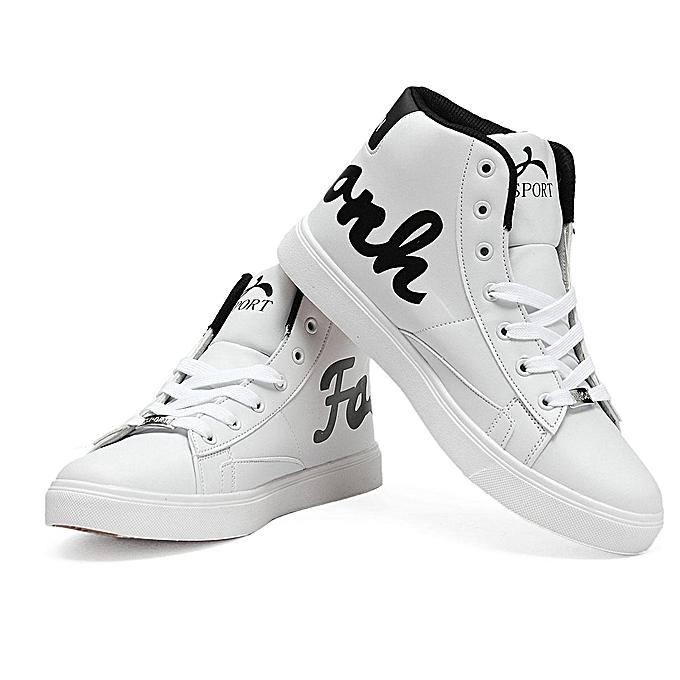 Fashion New Fashion Fashion New  's Casual High Top Sport Sneakers Athletic Running Shoes Winter Blanc -EU à prix pas cher  | Jumia Maroc a5cc80