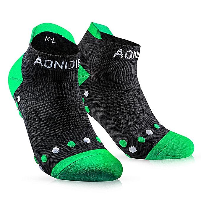 AONIJIE femmes Men Professional Quick-Drying Sport Socks Non Slip Warm Socks Athletic Sport Running Hiking Cycling Massage Socks(vert)(L) à prix pas cher