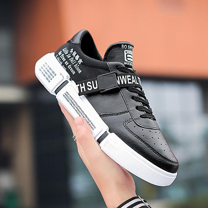 Fashion Fashion blanc chaussures low to help hommes chaussures casual sports chaussures-1 noir à prix pas cher    Jumia Maroc