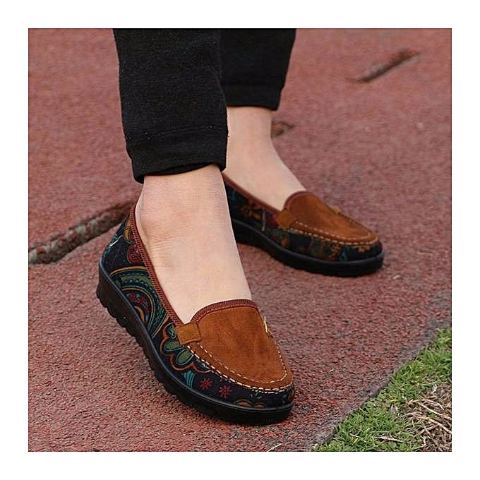 Fashion Big Taille femmes Casual Flat Loafers Slip-on chaussures à prix pas cher    Jumia Maroc