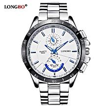 6983c7012 Longbo لونغبو براند نيو أزياء الرياضة ساعة اليد الفاخرة الكوارتز ساعات  الرجال سبيكة حزام الساعات رجل للماء العسكرية ووتش 8833