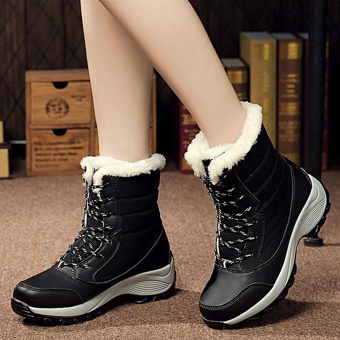 Fashion Plus velvet high-top femmes chaussures snow bottes à prix pas cher    Jumia Maroc