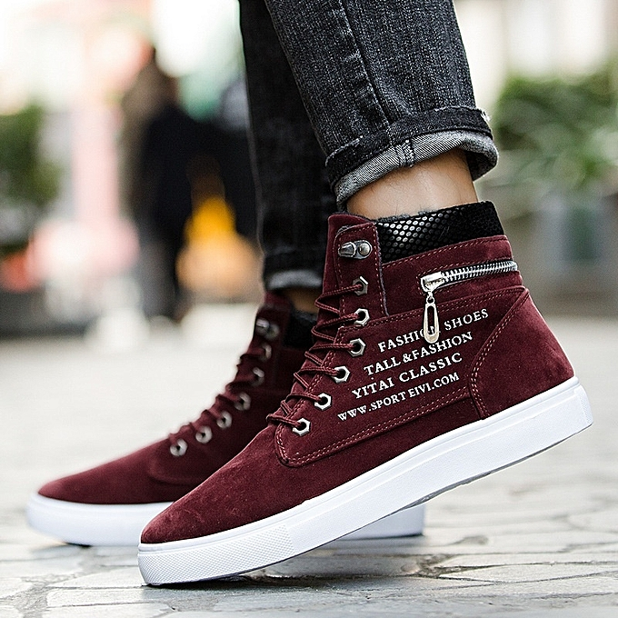 Other Stylish Men's Snake Pattern Suede High-tops baskets à prix pas cher