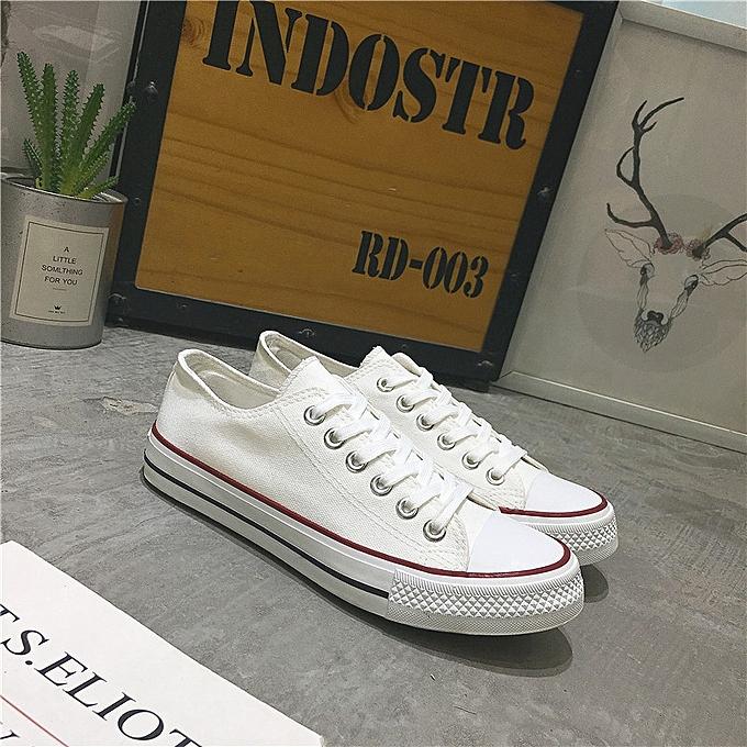 OEM New classic canvas chaussures vulcanized hommes chaussures couple models student chaussures autumn Korean version-blanc rouge à prix pas cher
