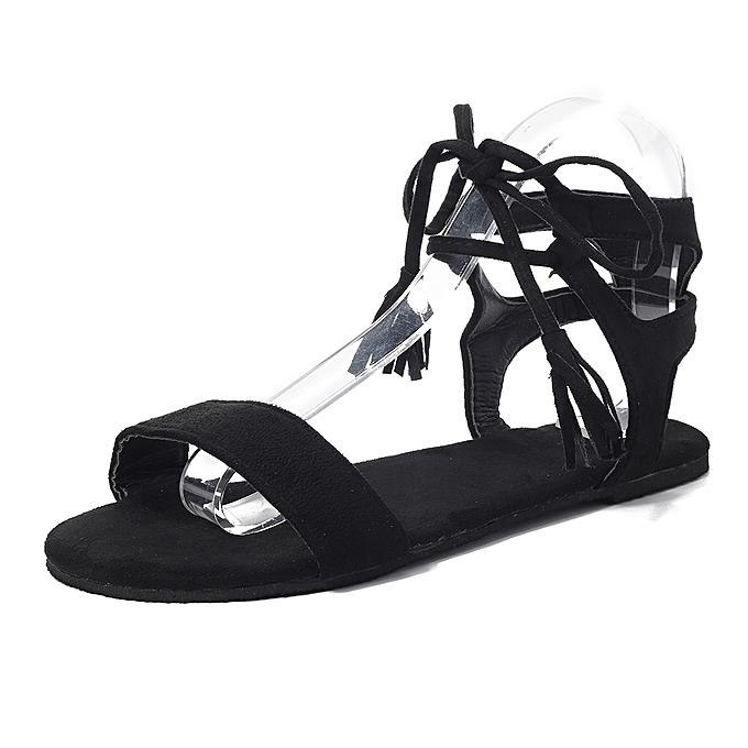 Cross Fashion Pas Fringe Lace Cher Up Sandals À Roman Prix Femmes cF1lJTK