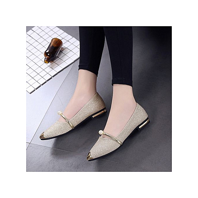 Fashion Xiuxingzi_femmes Pointed Toe Ladise chaussures Casual Low Heel Flat chaussures à prix pas cher