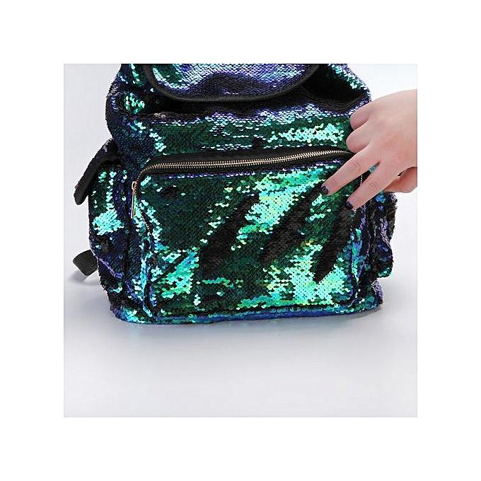Fashion Double Couleur Sequins Girls School Bag Soft Backpack Bag à prix pas cher