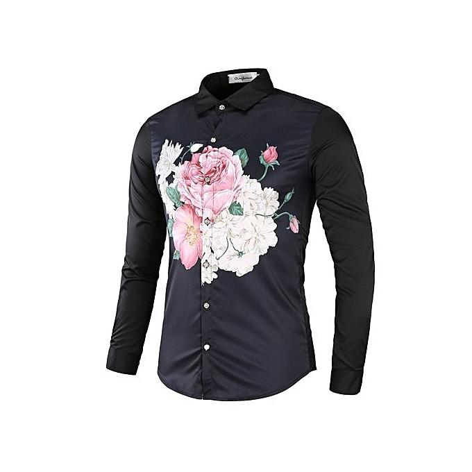 Other été nouveau Hommes& 039;s FFaibleer Printed manche longued Shirt à prix pas cher
