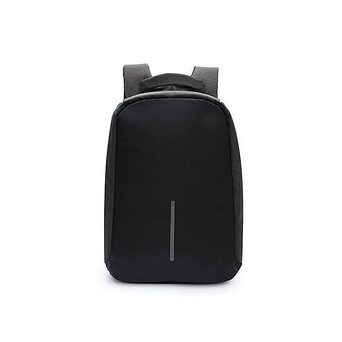 Generic UJ Anti-theft sac à dos With USB Charging Port Laptop imperméable Knapsack-noir à prix pas cher