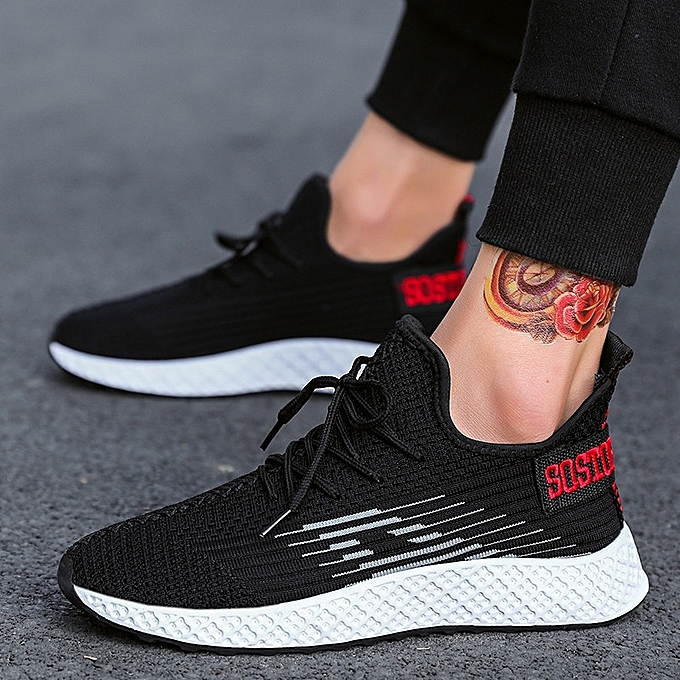 Other mode Spbague 2019 Tide chaussures Hommes's Sports respirant HolFaible engrener Surface Students' FonctionneHommest chaussures Fly tissage-blanc à prix pas cher