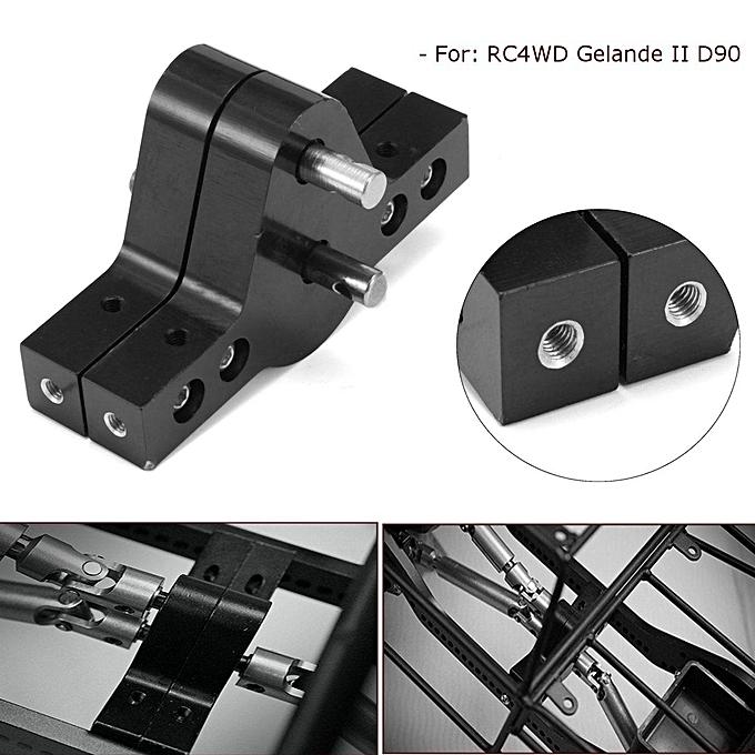 UNIVERSAL CNC noir Aluminum Transfer Case for 1 10 RC Crawlers Trucks AXIAL SCX10 RC4WD à prix pas cher