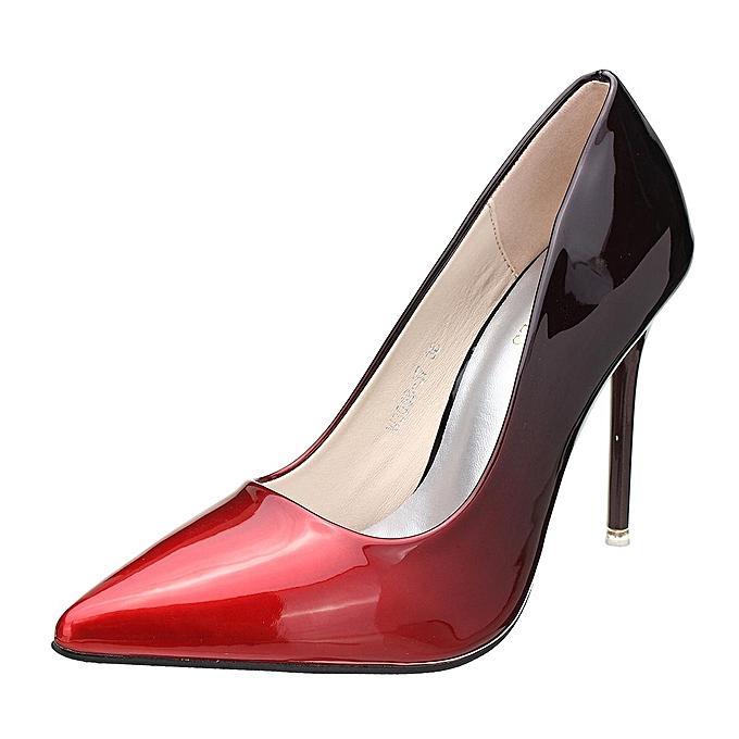 Fashion WoHommes  Slim High Heel Heel High Stilettos   Patent Leather Shoes Pointed Toe Party Pumps wine Rouge -EU à prix pas cher  | Jumia Maroc 4c9ac2