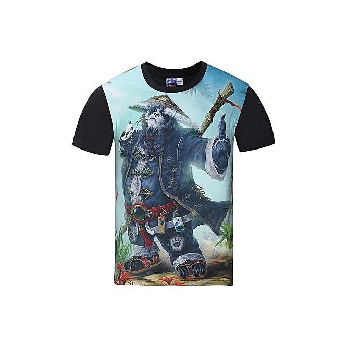 AFankara Hommes& 039;s Cool Graphic manche courte T Shirt-Multi à prix pas cher