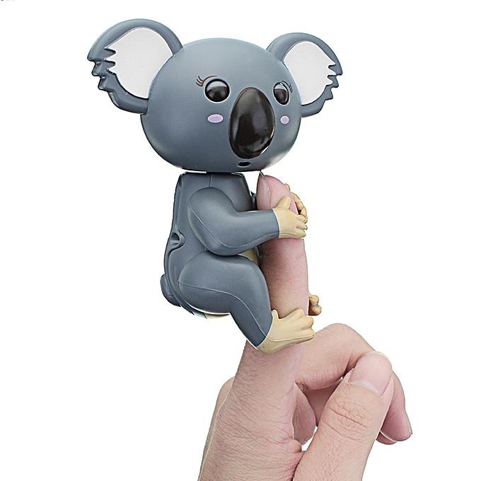 UNIVERSAL Cute Interactive   Fingers Koala intelligent Couleurful Induction Electronics Pet Toy For Enfants Gift-gris à prix pas cher