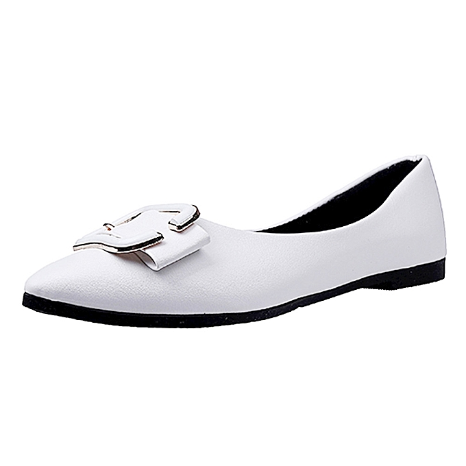 Fashion Jummoon Shop Wohommes Flats Ladies Comfy chaussures Soft Slip-On Single Casual Boat chaussures à prix pas cher