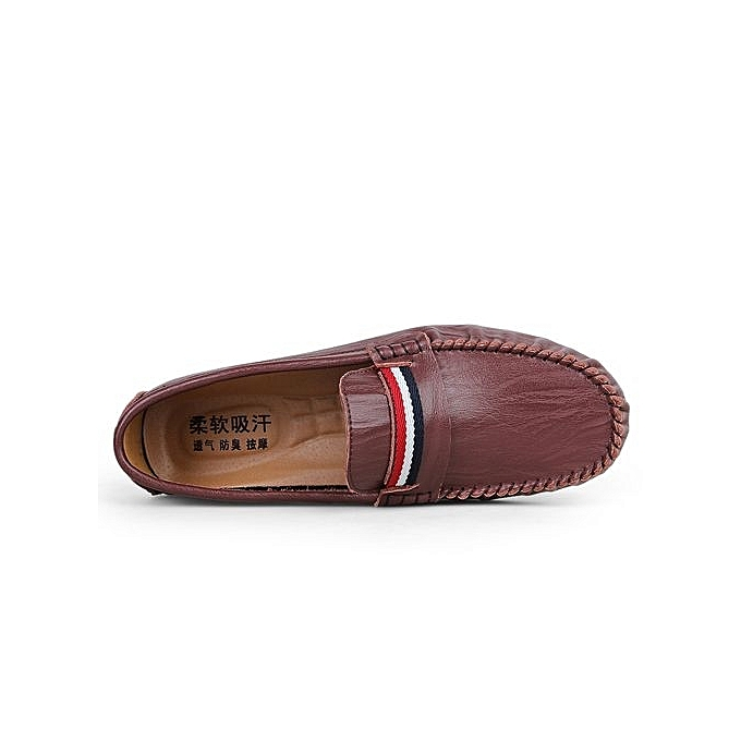 Fashion  s Slip-On Leather Shoes Shoes Leather Flats-Red Brown à prix pas cher  | Jumia Maroc f58a0c