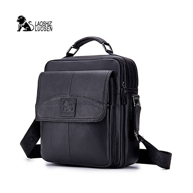 Fashion hommes  New Vintage  Leather Messenger Bag Men Casual Business Travel male Shoulder Bags Handbag Cowhide Crossbody Bags à prix pas cher