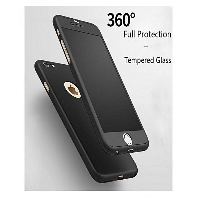 coque protection 360 noir pour iphone 6 verre incassable achat t l phones tablettes. Black Bedroom Furniture Sets. Home Design Ideas