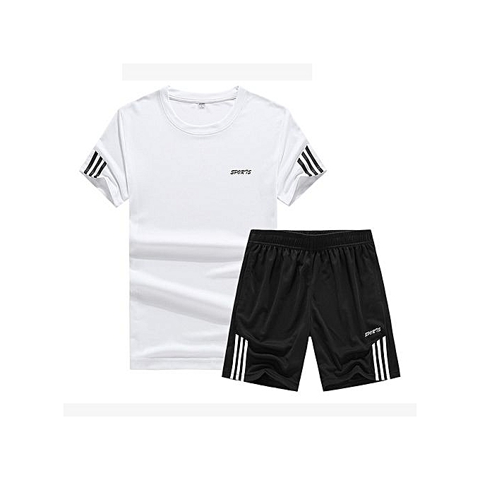 Other Sports Suit  Loose Quick Drying T Shirts-blanc à prix pas cher