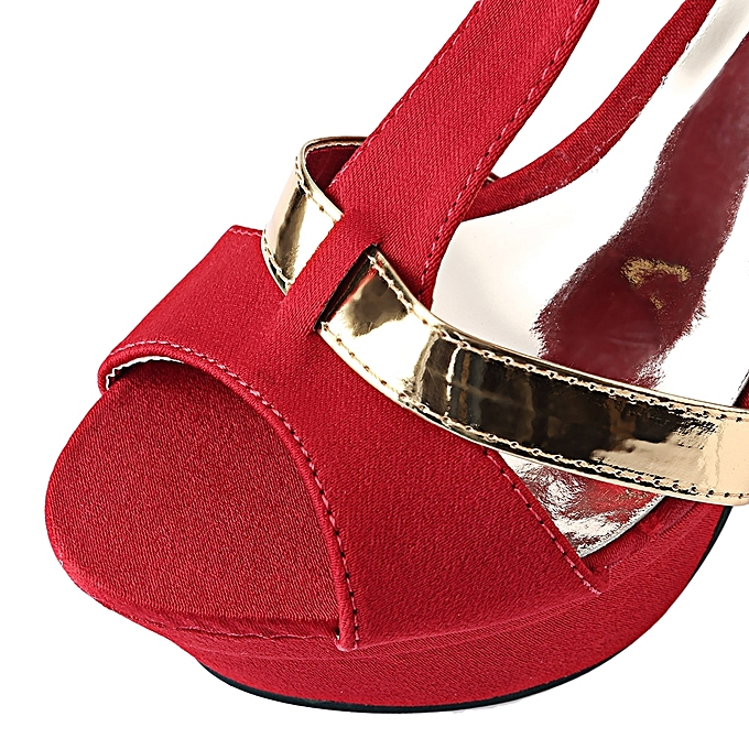 Fashion Sexy Zipper Design High Heel Sandals-RED à prix pas cher cher pas  | Jumia Maroc 9d549e