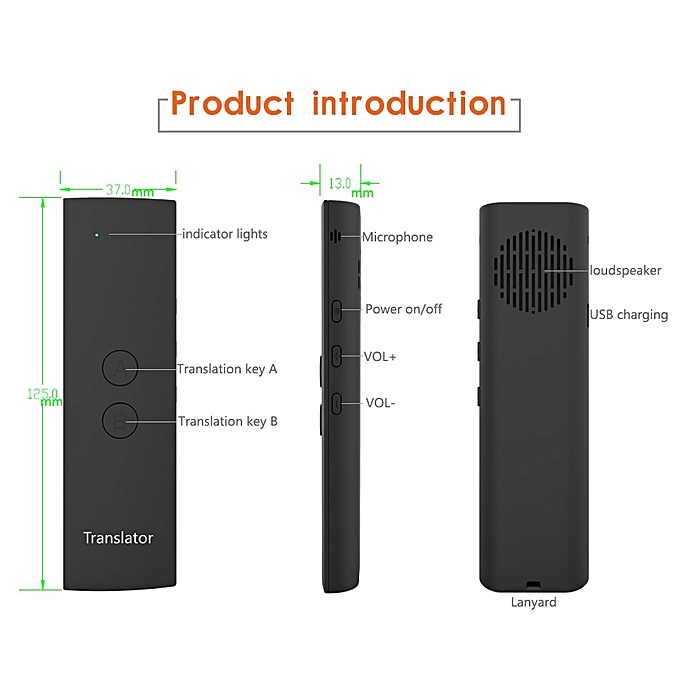 Other Portable Smart Voice Translator 1 Second Fast Accurate Voice Translation Long Standby For Meeting Study Travel Communication ASQOA à prix pas cher