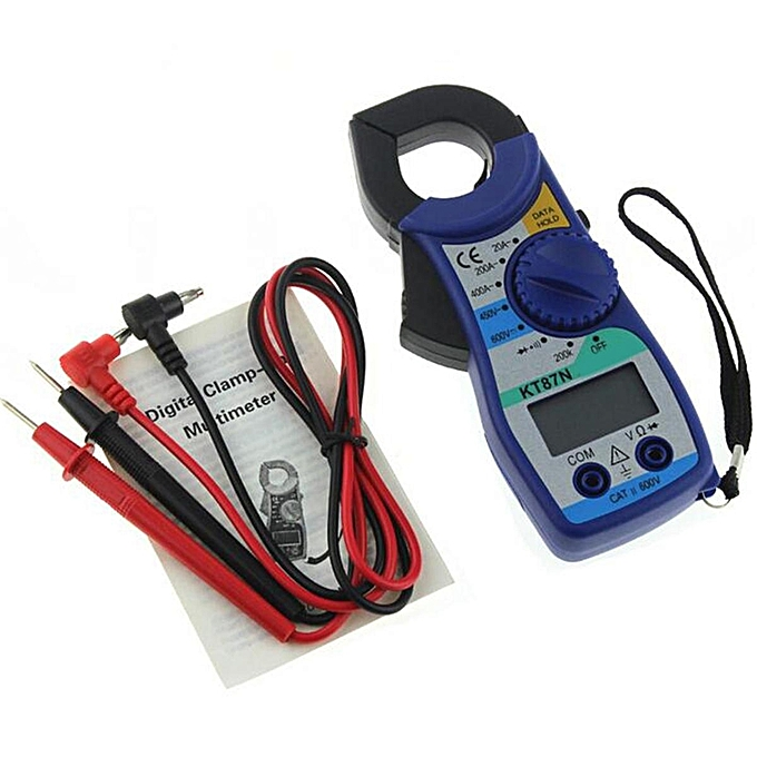 UNIVERSAL ANENG KT87N Digital Multimeter Clamp Meter Current Clamp Pincers AC DC Current Voltage Tester à prix pas cher