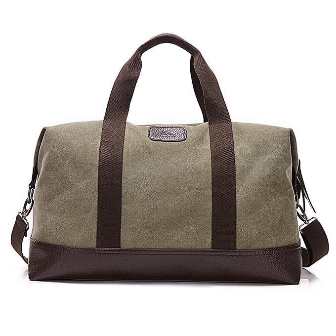 Other 2018 Hot Sale Travel Bags Kvky Casual Vintage Messenger Bag Canvas Solid Uni Large Capacity Tote Cross-body Clic Handbag( vert) à prix pas cher