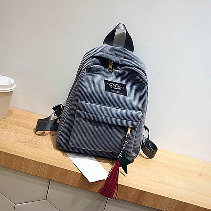 mode Wohommes mode toile Tassel School sacs voyage sac à dos sac GY à prix pas cher