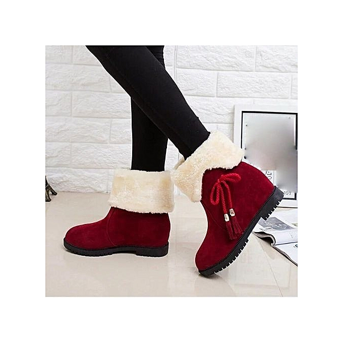 da8395e27ae98 ... Eissely Snow Boots Winter Ankle Boots WoHommes Shoes Heels Winter  Winter Heels Boots Fashion Shoes RD ...