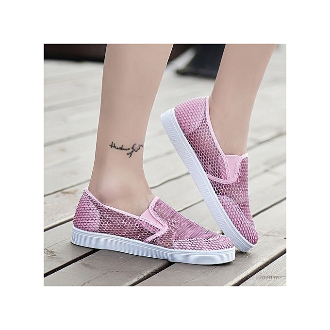 Fashion Breathable  Air Mesh Moccassins WoHommes  Breathable Skate Sneakers Student Casual Shoes -Pink à prix pas cher  | Black Friday 2018 | Jumia Maroc 543ae1