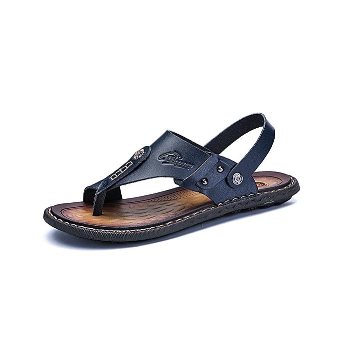 Fashion Men Comfortable Breathable Two Way Wear Clip Toe Slippers Sandals Beach chaussures à prix pas cher