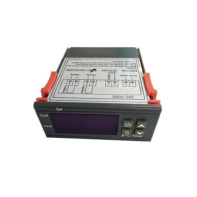 Generic STC-1000 Digital All-Purpose Temperature Controller Thermostat With Sensor AC 220V à prix pas cher