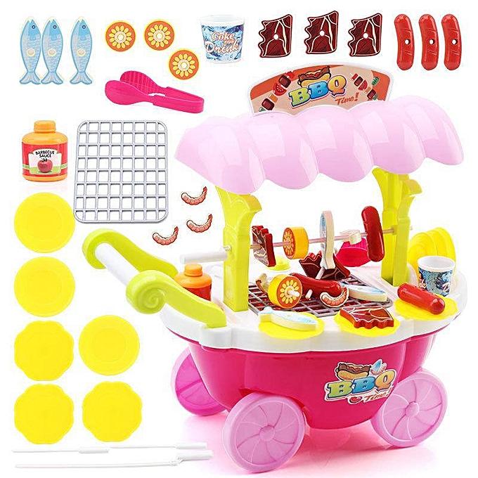 Autre Les enfants jouent des jouets avec de la musique légère bonbons crème glacée stands de vente forfaits de voiture barbecue à prix pas cher