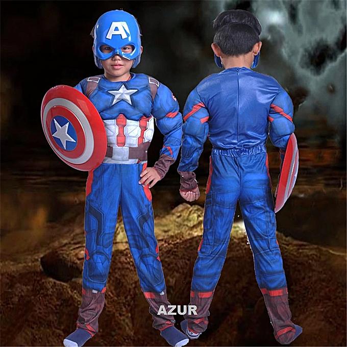 Generic Costume Captain America de Superhero pour enfants Avengers  à prix pas cher